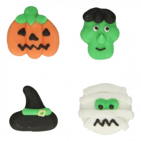 """8 décors en sucre """"Monstres d'Halloween"""""""