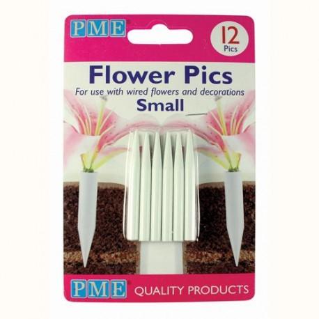 12 tubes pour fleurs