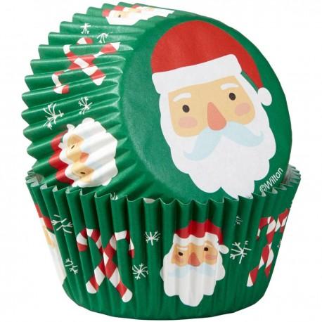 """75 caissettes à cupcakes standard """"Papa Noël"""""""
