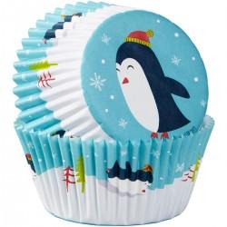 """75 caissettes à cupcakes standard """"Pingouins"""""""