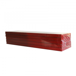 Lot de 5 supports rouges à bûche - 32 x 12 x 1,5 cm