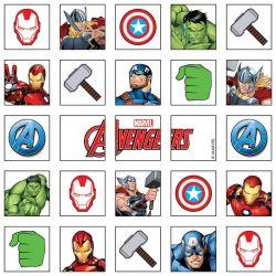 25 carrés puzzle pré-découpés comestibles - Avengers