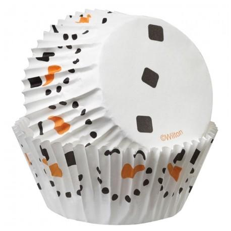 """50 caissettes à cupcakes standard """"Bonhomme de neige"""""""