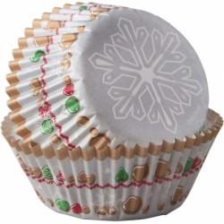 """75 caissettes à cupcake standard """"Mon beau flocon"""""""