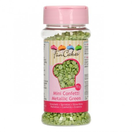 Mini confettis vert métallique