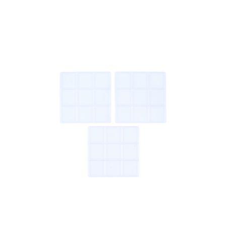 Lot de 3 supports transparents pour gâteau cubique - 9 cubes