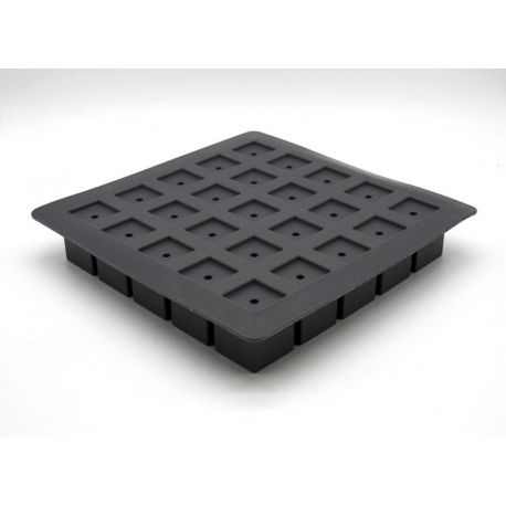 Moule à gâteau en silicone - 25 cubes