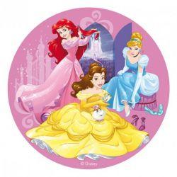 """Disque azyme """"Les jolies princesses Disney"""" - 20 cm"""