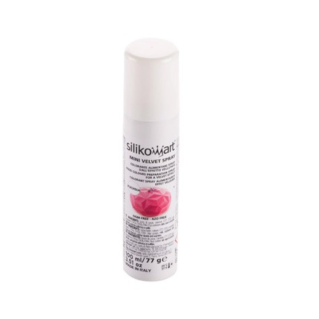 Spray effect velours - Fuchsia