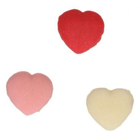 """6 décors en pâte d'amande """"Coeurs"""""""