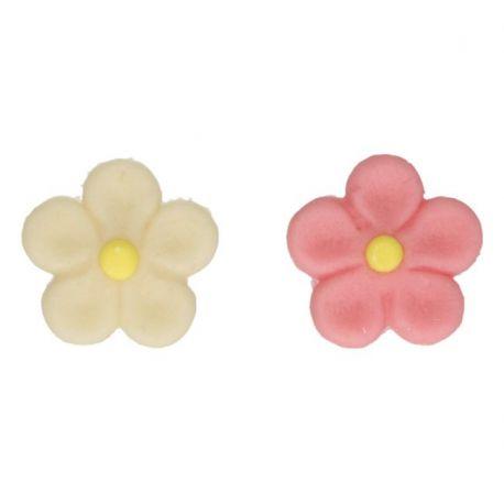 """12 décors en pâte d'amandes """"Fleurs"""""""