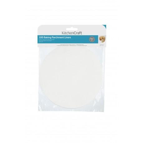 100 feuilles de papier cuisson rondes en silicone - 20 cm