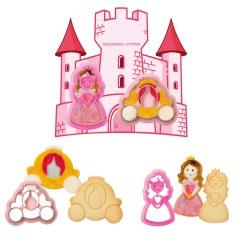 """Lot de 2 emporte-pièces """"Princesse et son carrosse"""""""