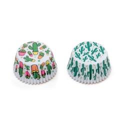 """36 caissettes à cupcakes standard """"Cactus"""""""