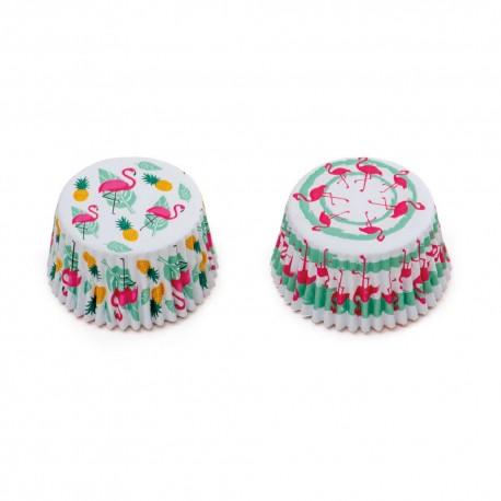 """36 caissettes à cupcakes standard """"Flamants Roses"""""""