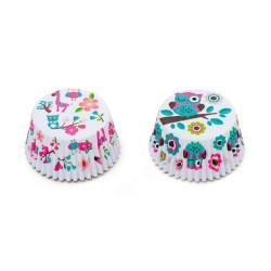 """36 caissettes à cupcakes standard """"Hibou et Girafe"""""""