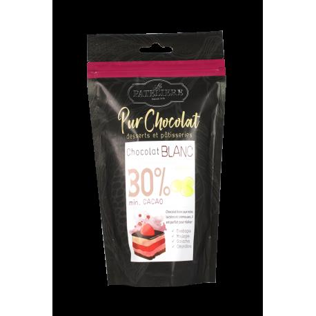 Palets de chocolat de couverture blanc - 200 g
