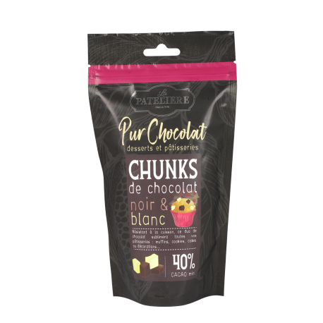Chunks de chocolats noir et blanc - 200 g