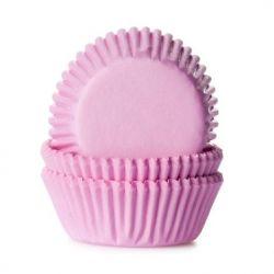 60 mini caissettes à cupcakes - Rose pastel