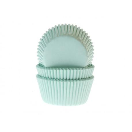 60 mini caissettes à cupcakes - Turquoise