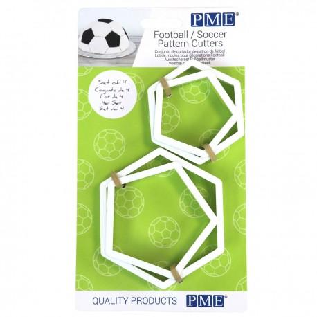 Lot de 5 emporte-pièces Ballon de Football
