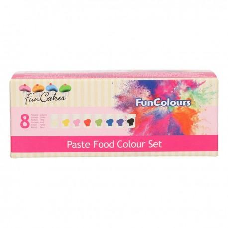 Kit de 8 pâtes colorantes alimentaires