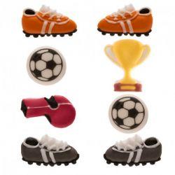 """8 décors en sucre """"Football"""""""