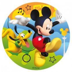 "Disque azyme ""Mickey et Pluto"" - 16 cm"