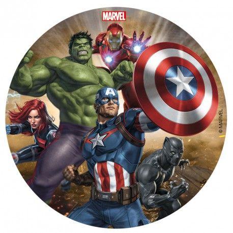 """Disque azyme """"Avengers : le conbat"""" - 16 cm"""