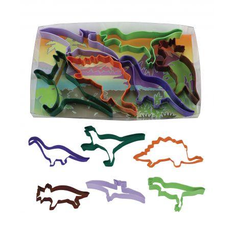 "Lot de 6 emporte-pièces ""Dinosaures"""