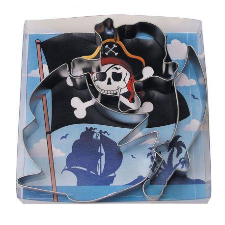 """Lot de 3 emporte-pièces """"Pirate"""""""