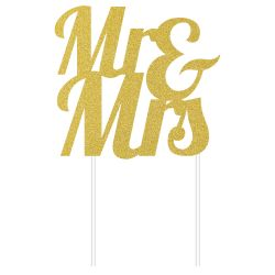 "Toppers ""Mr & Mrs"" - Or"