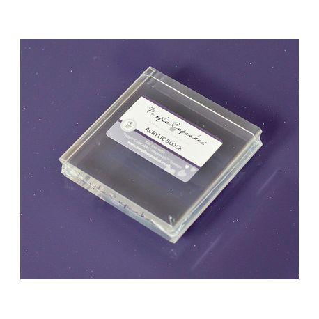 Support acrylique carré - 7 cm