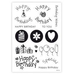"""Tampon pour pâte à sucre """"Happy Birthday"""""""