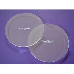 2 plaques rondes pour ganache - 15,2 cm