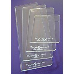 4 plaques rectangulaires pour ganache de différentes tailles