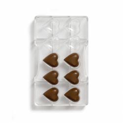 """Moule à chocolats """"5 coeurs 3D"""""""