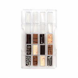 """Moule à chocolats """"10 cylindres fantaisies"""""""