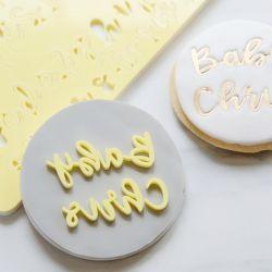 """Tampon pour pâte à sucre écriture chic """"Alphabet"""" - Petit format"""
