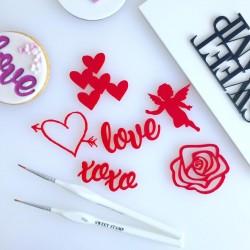 """embosseurs pour pâte à sucre """"Love"""""""