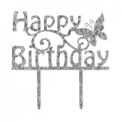 "Topper pour gâteau ""Happy Birthday printanier"""