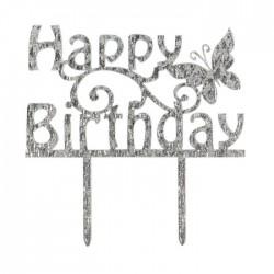 "Topper pour gâteau ""Happy Birthday printanier"""