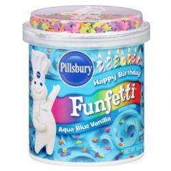 """Nappage bleu à la vanille et confettis """"aqua blue"""""""