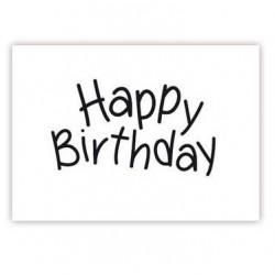 """Tampon pour pâte à sucre écriture fine """"Happy Birthday"""""""