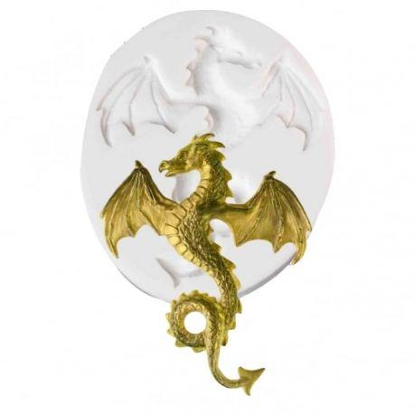 """Moule en silicone à gumpaste """"Dragon volant"""""""