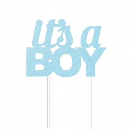 """Topper pour gâteau """"It's a boy"""""""