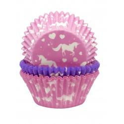 """75 caissettes à cupcakes standard """" Licorne"""""""