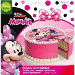 """Disque comestible """"Minnie"""" - 16 cm"""