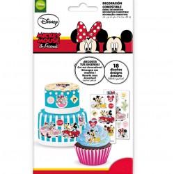 """18 dessins à découper sur planche azyme """"Minnie & Mickey"""""""