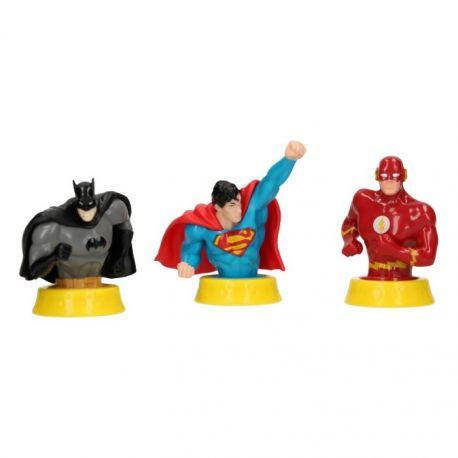 """Figurines """"Ligue des justiciers : Batman, Superman et Flash"""""""